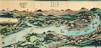 Battle of Hokuetsu - Ukiyo-e print of the Battle of Hokuetsu by Utagawa Kuniteru II