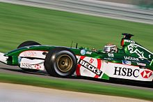 Photo de la Jaguar R3 d'Eddie Irvine à Indianapolis