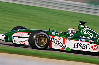 Jaguar Racing - The Jaguar R3 being driven by Eddie Irvine in 2002.
