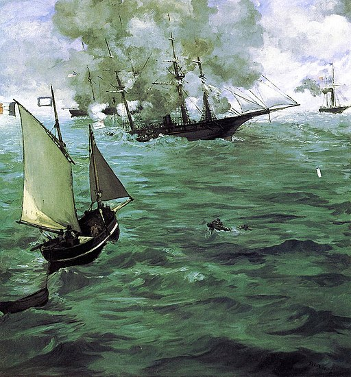 The Battle of the Kearsarge and the Alabama by Édouard Manet