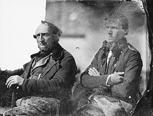 Royal Greenland Trading Department - Two members of the Royal Greenland Trade Company, 1854