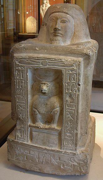 Block statue - Image: Egypte louvre 112 statue