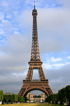 The Amazing Race 1 - Upon arriving in the city of Paris, France, teams visited the iconic Eiffel Tower for a Roadblock