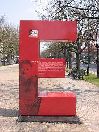 World Year of Physics 2005 - One of 16 Einstein Es on Berlin's Unter den Linden
