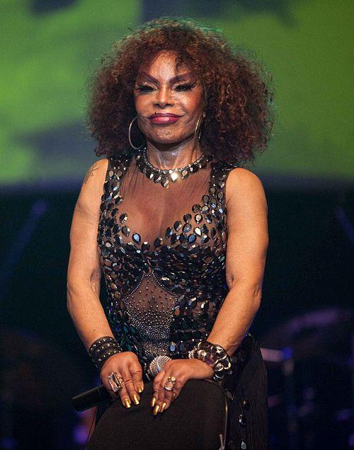 Elza Soares durante o II Encontro Afro-Latino realizado na Bahia em 2010.