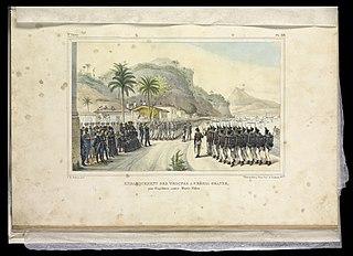 Embarquement des troupes a Prahia Grande : pour l'expédition contre Monte-Video