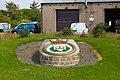 Emblem of HMS Royal Oak at a monument at Scapa Flow, 11.08.15.jpg