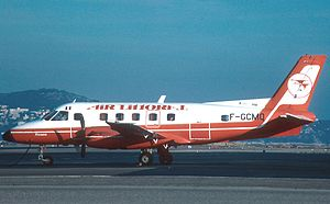 Air Littoral - Air Littoral Embraer Bandeirante at Nice in 1982
