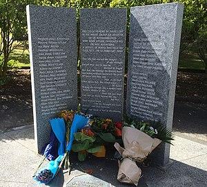 Air New Zealand Flight 901 - Photograph of the Erebus Memorial at Waikumete Cemetery, Glen Eden, Auckland.  January 2014.