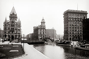 History of Syracuse, New York - Erie Canal at Salina Street