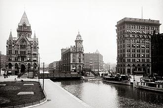 History of Syracuse, New York - Erie Canal at Salina Street