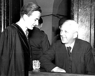Richard von Weizsäcker - Richard von Weizsäcker (left) with his father at the latter's post-war trial