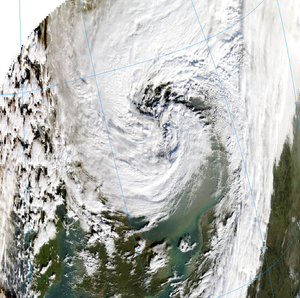 Climate change in Sweden - Cyclone Gudrun in the North Sea 8 January 2005