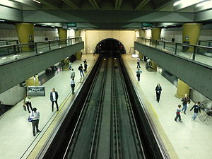 Olleros (Buenos Aires Underground) - Central view of the station platforms