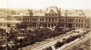 Constitución railway station - The original terminal around 1890
