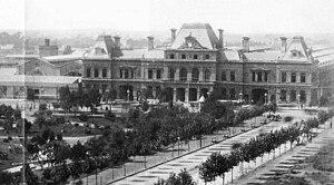 Constitución railway station - The original terminal around 1890