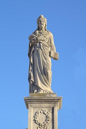 Statue in Martin de Alzzga and his family's tomb