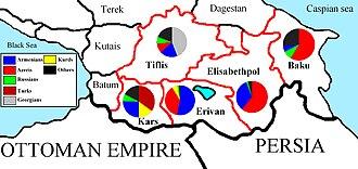 Russian Armenia - Image: Ethnic population of the Caucasus according to the Russian census of 1897