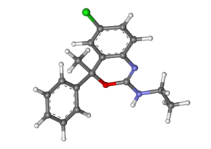 Etifoxine - Image: Etifoxine ball and stick