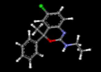 Etifoxine - Image: Etifoxine ball and stick