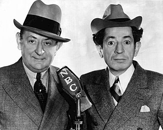 Howard Brothers - Eugene and Willie Howard promoting their Follies Bergere of the Air NBC radio show in 1936.