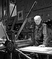 Evan Lindquist, artist-printmaker, in his studio.jpg