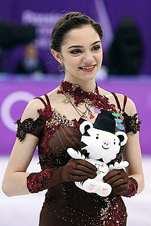 Evgenia Medvedeva at the 2018 Winter Olympic Games - Awarding ceremony.jpg