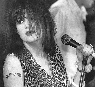 X (American band) - Exene Cervenka at Chestnut Cabaret, Philadelphia, summer 1986