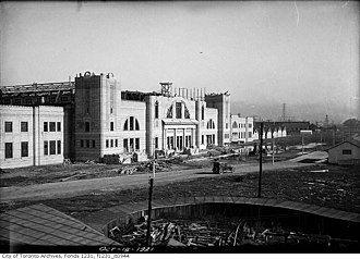 Coca-Cola Coliseum - Construction of the arena in October 1921. The building was later opened in December 1921.