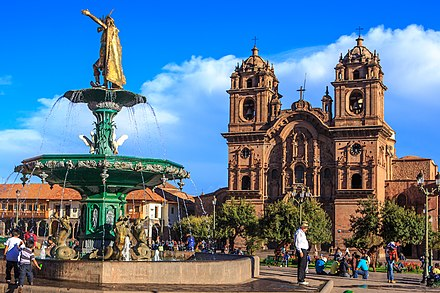 Cusco, capital of the Incan Empire. Exploring Cusco...Plaza de armas, Centro Historico (8443408703).jpg