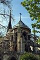 Exterior of the apse of Notre-Dame de Paris 13 April 2015.jpg