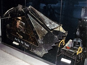 Lockheed F-117 Nighthawk - Canopy of F-117 shot down in Serbia in March 1999 at the Museum of Aviation in Belgrade