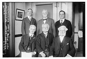 Henry J. Heinz - F.L. Brown, S.P. Leet, Reverend J.G. Holdcroft, Marion Lawrence, Henry John Heinz, and Bishop Joseph Crane Hartzell in 1917