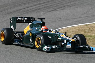 Caterham F1 - Jarno Trulli took part in the first pre-season test in February 2012, but was subsequently replaced by Vitaly Petrov