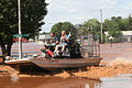 FEMA - 31647 - First Responders using an air boat on a street in Oklahoma.jpg