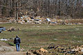 FEMA - 34701 - FEMA Community Relations worker walks through a Fatality Area in Greenville.jpg