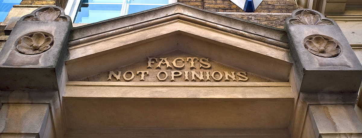 Image result for facts not opinions