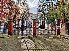 Falmouth Gate towards Queen's Gate, Imperial College Road.jpg