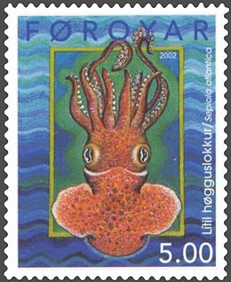 Faroe stamp 409 ten armed squid.jpg