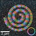 Ferromagnetic domains in spiral pattern for Fe60Al40.jpg