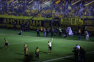 Estadio Campeón del Siglo - Diego Forlán scored the first goal ever in the stadium.