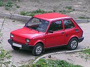 """Polsk version av Fiat 126 där bilen kallades Fiat 126p """"Maluch""""."""