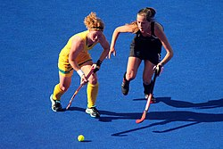 Field hockey at the 2012 Summer Olympics - NZL-AUS (7796656018).jpg