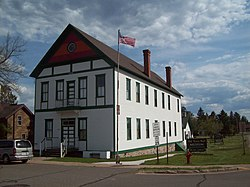 The old Fifield Town Hall, now the home of the Price County Historical Society Museum