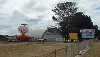 RAAF Base Williamtown - The entrance to Fighter World museum.