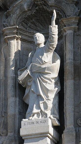 Philip Neri - Statue of Philip Neri in Congregados Church, Braga, Portugal
