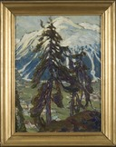 Fir Trees in front of the Mountains. Study from North Norway (Anna Boberg) - Nationalmuseum - 21365.tif