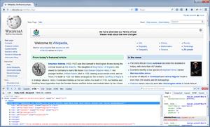 Firebug (software) - Image: Firebug extension screenshot