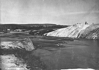 Firehole River - Image: Firehole River 1872