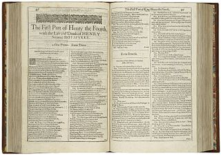 <i>Henry IV, Part 1</i> play by Shakespeare